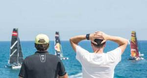 Extreme Sailing Series™ metres in front of the spectators - Barcelona 2017 - photo © Lloyd Images