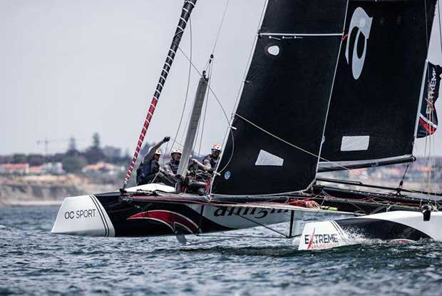 Extreme Sailing Series Act 4, Cascais 2018 - Day 1 - Alinghi - photo © Lloyd Images