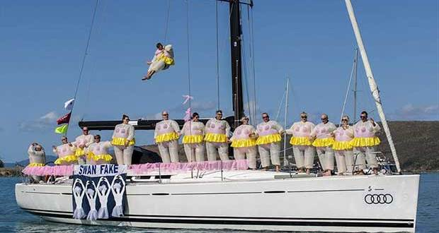 A bevy of ballet beauties. One of the many contenders for the Best Themed Yacht in the Prix d'Elegance at Hamilton Island Race Week. - photo © Andrea Francolini