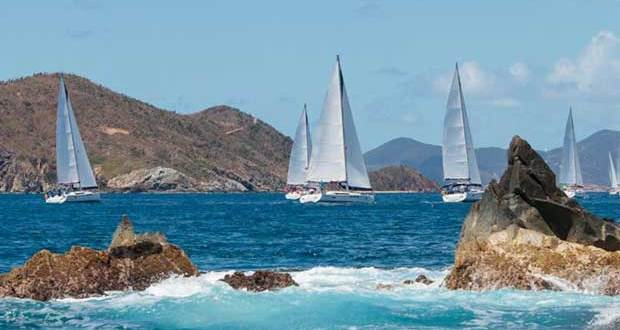 15 Different Classes and Gorgeous Islands as marks. © BVI Spring Regatta