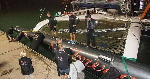 Scallywag comes home. What's missing? RHKYC Hong Kong to Hainan Race 2018. © Guy Nowell