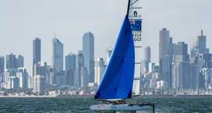 Tayla Rietman and Lachlan White - 2018 Sail Melbourne International, Day 3 - photo © Beau Outteridge