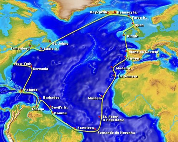North Atlantic Voyage