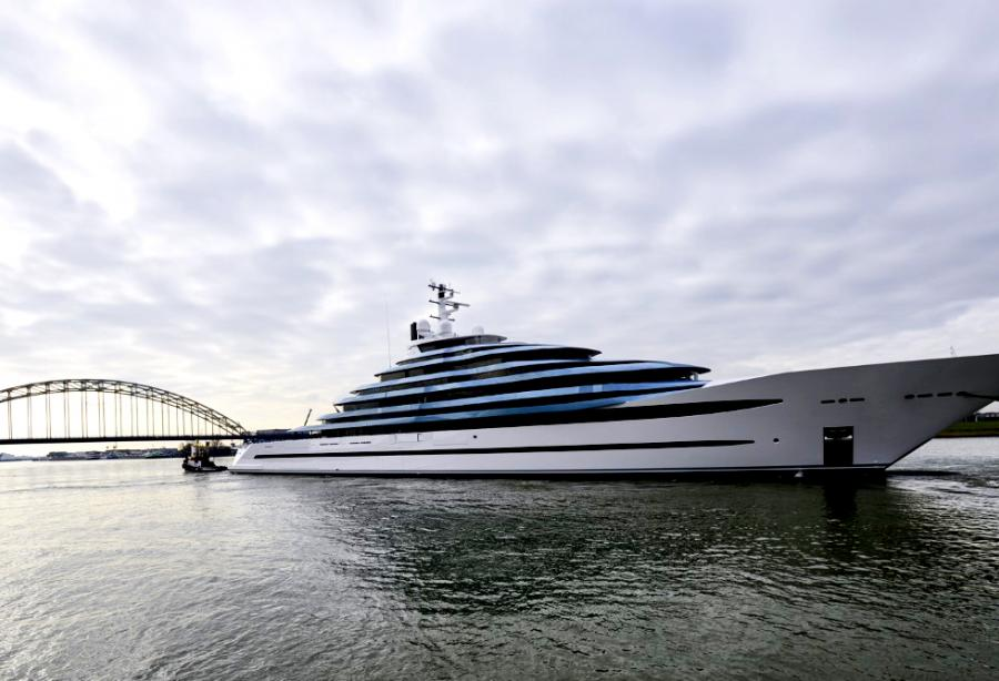 Hollands Largest Yacht Launched At Oceanco Yacht Harbour