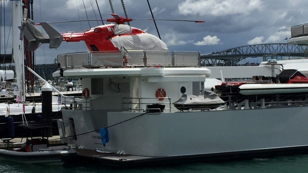 Larry Pages Superyacht Senses Undergoing Repair Works In