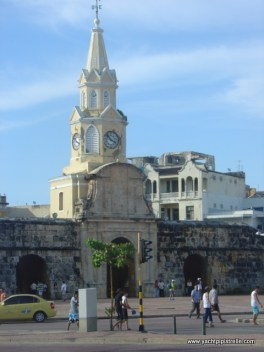 Clock Tower - entrance to Old City of Cartagena