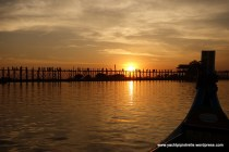 U Bein Bridge at sunset