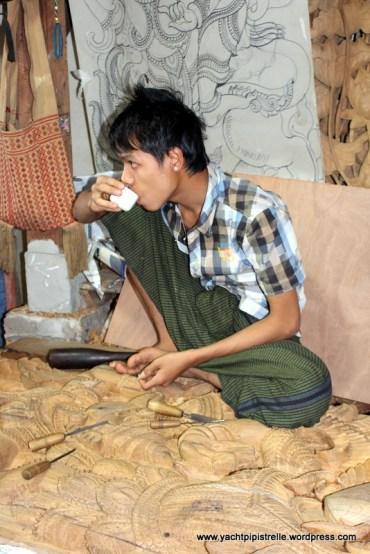 carpenter taking a tea break!