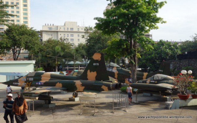 Outside the museum - old war aircraft