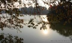 View across Hoan Kiem Lake