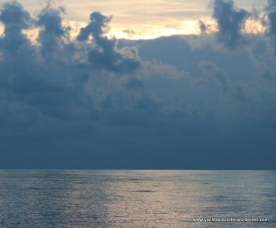 Sunrise behind clouds