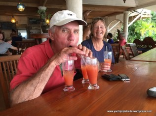 Enjoying a rum punch or three