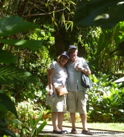 Helen and Brian in the botanical gardens