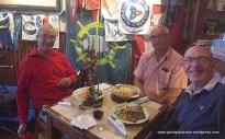 Crew dinner ashore at Peter's Cafe Horta