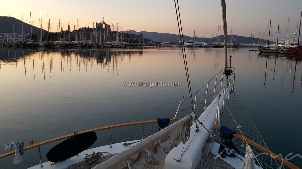 Bodrum at sunrise with St. Peter's Castle