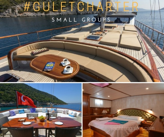 Gulet charter for small groups in Turkey