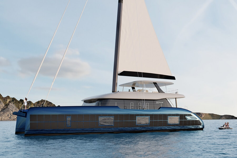 Sunreef, 100, Eco, sailing, catamaran, solar, power, panels, electric