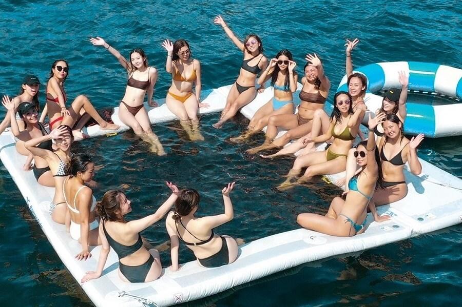 NextWave, Charter, Sankini, bikini, Island, yacht, boat, party, Hong Kong
