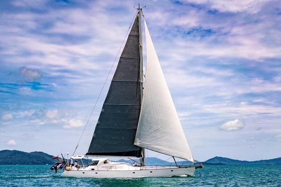 Northrop & Johnson, Thailand, Jim Poulsen, Mi Lian, Jim Adams, sailing, yacht, sold, sale, 70 feet