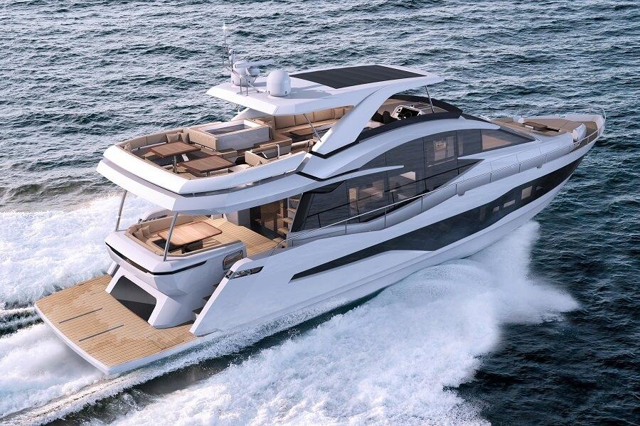 Galeon, boat, yacht, motor, Tony Castro, design, MarineMax, 500, drop-down, wings, windscreen, bulwarks, 325 GTO, 400, Fly