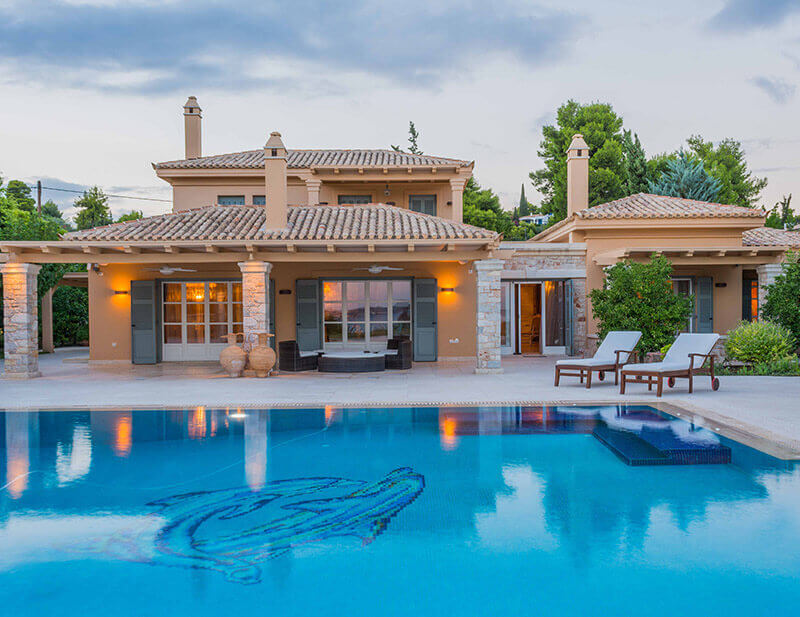 our client love our villas collection for their summer holidays in greece