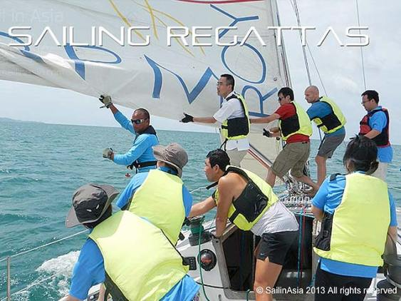 teambuilding on a two ton Admirals Cup yacht