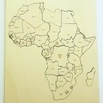 Large Map Of Africa Puzzle With Country Names Yacreates