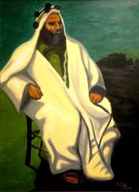 """Ras Alula: Acrylic on Canvas: 48""""x30"""" 2008"""