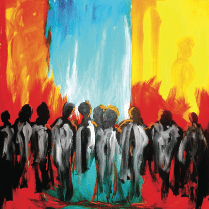 """The Messengers, Acrylic on canvas, 36""""x48"""" 2006"""