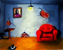 """Evicted: oil on canvas, 10""""x8"""" 2005"""