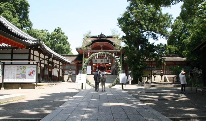 [6月15日-30日]京都 石清水八幡宮 茅の輪くぐり