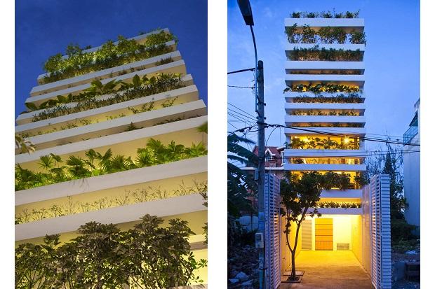 緑の美しいプランターハウス「stacking green」