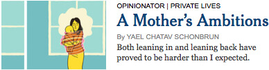 A Mother's Ambitions by Yael Chatav Schonbrun