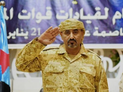 عاجل: اللواء الزُبيدي يهنئ بانتصارات قعطبة ويشكر التحالف وأبطال المقاومة والعمالقة والحزام الأمني