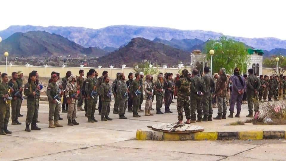 قوات الحزام الامني في الضالع تدشن تعزيز قواتها (ب500 مقاتل متطوع)