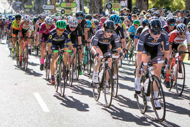 Riders of Stage 4 of the 2017 Santos Women s Tour - again the final stage of 7ba9ed1ca