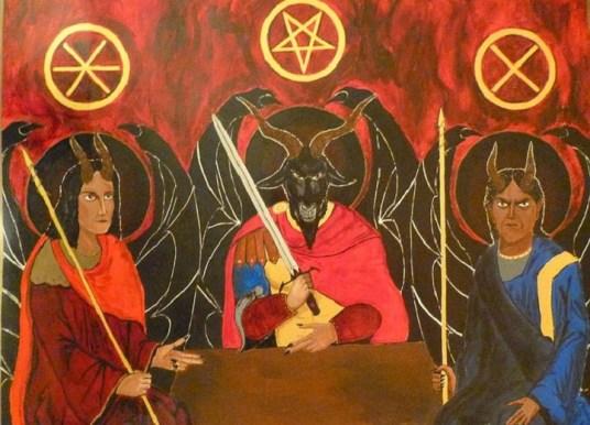 Адописные «иконы»: черти под ликами святых