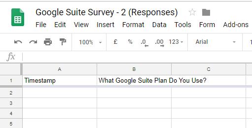 Google Sheet Form Response