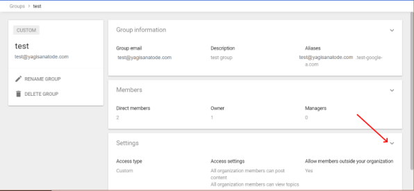 Gsuite Groups settings expand