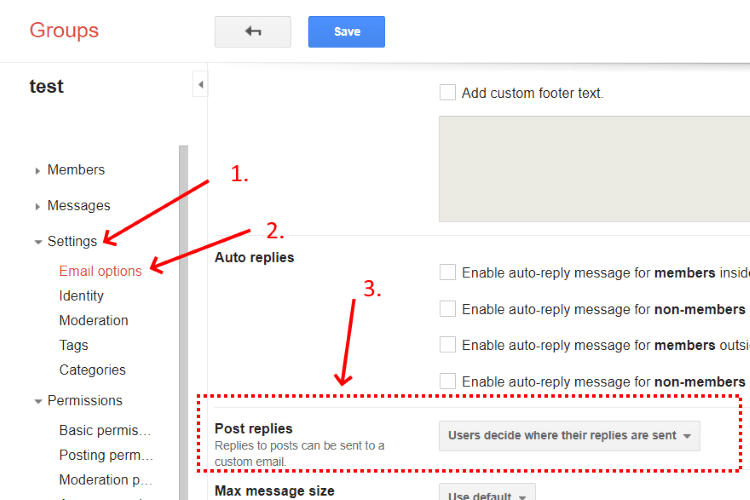 navigate to Post replies Google Groups