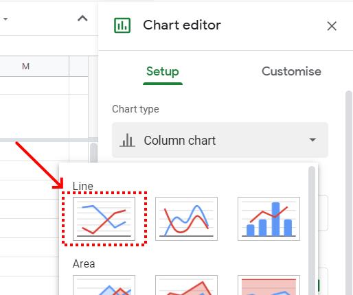 Google Sheet Chart Type line chart