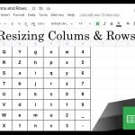 0 Google Sheets Shorts - resizing columns and rows