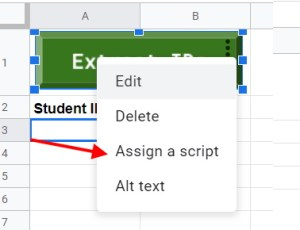 Assign a script to a button to extract PDF data in Google Apps Script