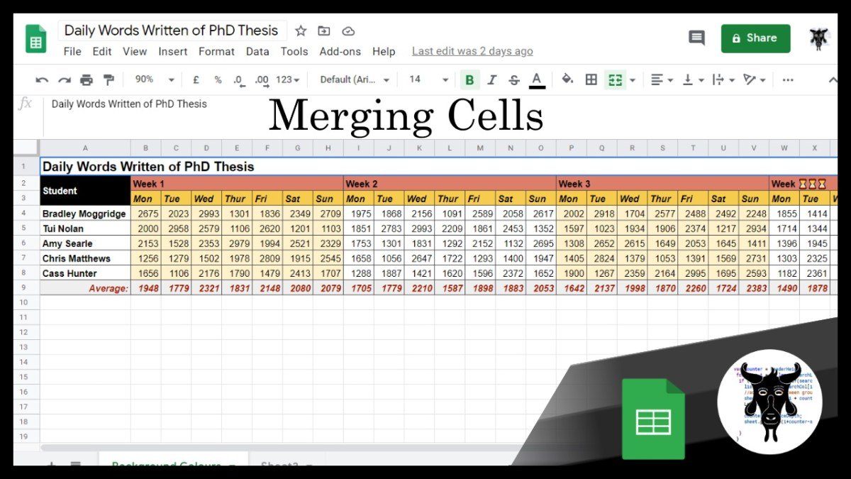 Google Sheets Beginners: Merging Text (5)