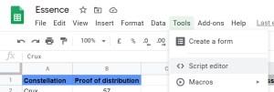 Opening Google Apps Script Editor for Custom Functions