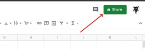 Share button Google Sheets