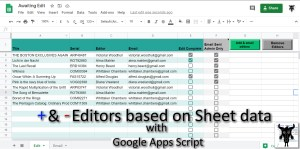 add remove editors based on sheet data with Google Apps Script