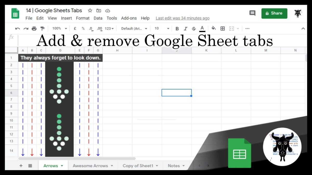 14 Google Sheets Shorts - Add and remove Google Sheet Tabs