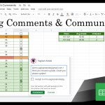 Google Sheets Beginners: Communicating with Comments (19)