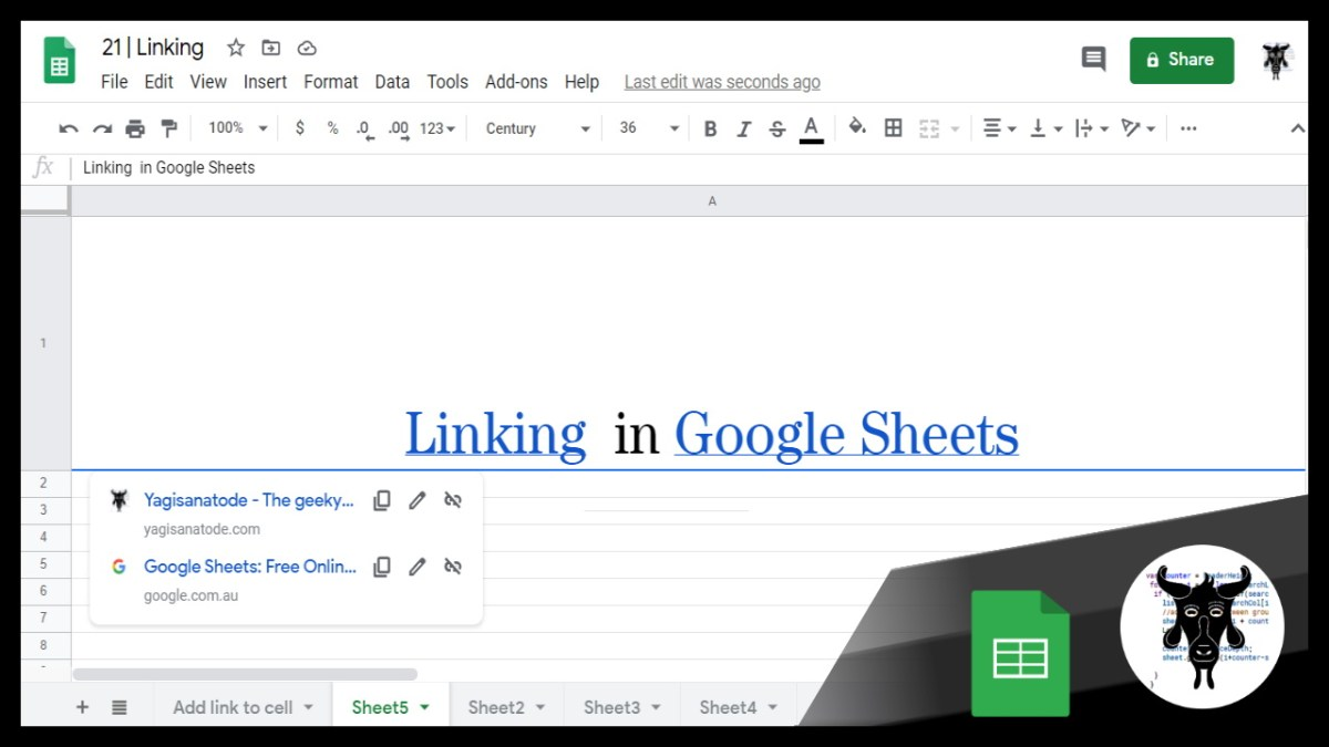 21 Google Sheets Shorts - Linking